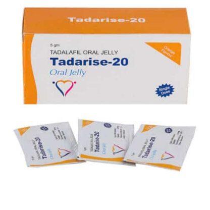 Tadalafil gel (Tadarise-20 oral jelly, Generic Cialis, Tadalis, Apcalis)