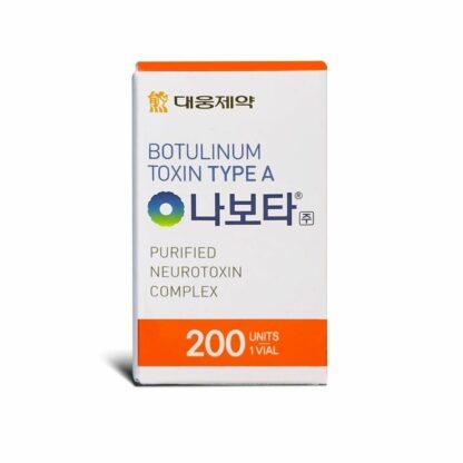 Nabota botulinum toxin 200 units